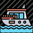 boat, cruise, ship, travel, yacht