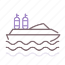 boat, scuba, dive, diving icon