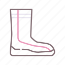 footwear, scuba, bootie, diving icon