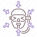 decompression, diving, sickness icon