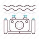 camera, diving, underwater icon