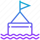 buoy, float, journey, sail, sea, water icon