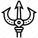 trident, fishing, spear, weapon, poseidon icon