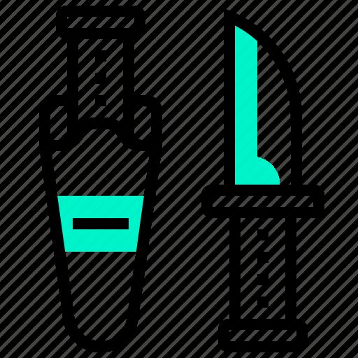 dive, knife, scuba, shear, tool icon