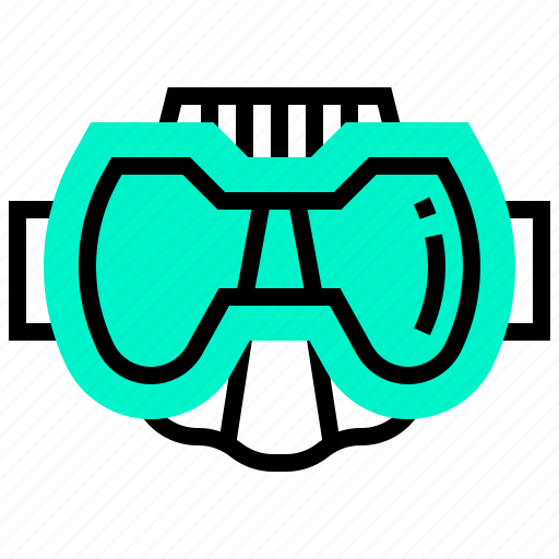 diving, equipment, goggles, mask, protection icon