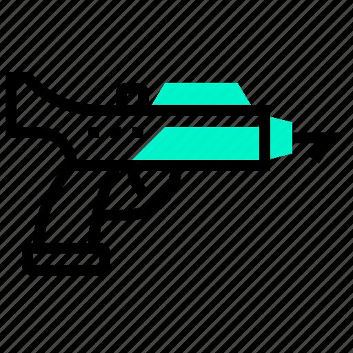 diver, finishing, gun, spear, underwater icon