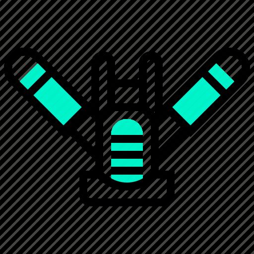 breathing, gills, respirator, under, water icon
