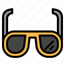 glasses, sun icon
