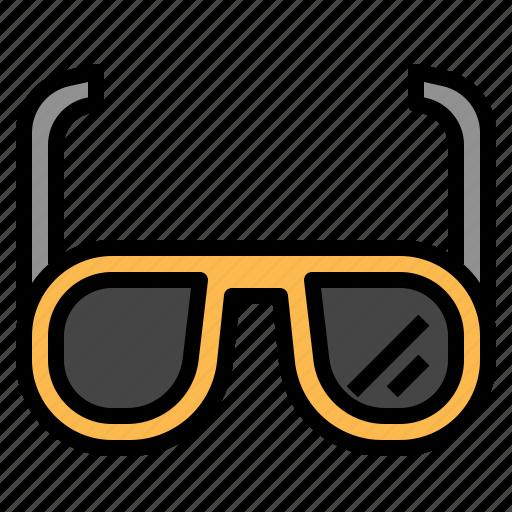 glasses, sun icon