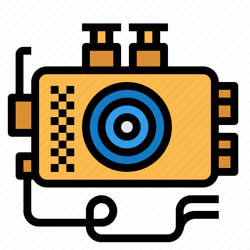 camera, underwater icon