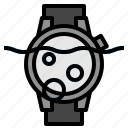 underwater, watch icon