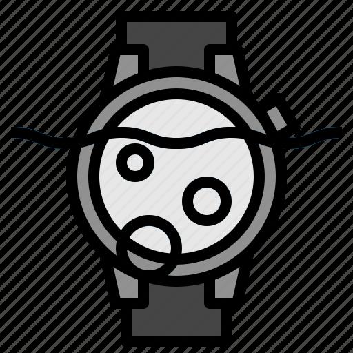 underwater, watch icon