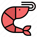 seafood, shrimp icon