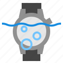 diving, underwater, watch icon