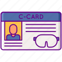 c, card, id, diving