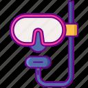 diving, mask, scuba, gear
