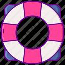 lifebuoy, help, lifesaver, sea