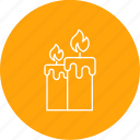 candle, celebration, decoration, diwali, light icon