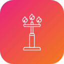candle, celebration, decoration, diwali, stand icon