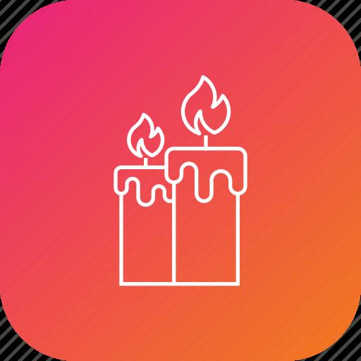 candle, celebration, decoration, diwali, light icon