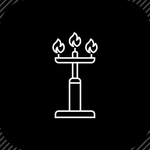 candle, celebration, decoration, diwali, stand icon