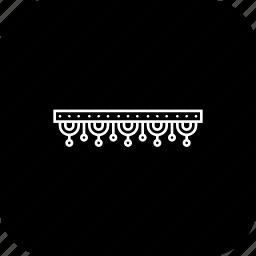 decor, decoration, deepavali, diwali, door, festoon icon