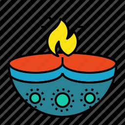 deepak, deepavali, divaa, diwali, diya, festival icon