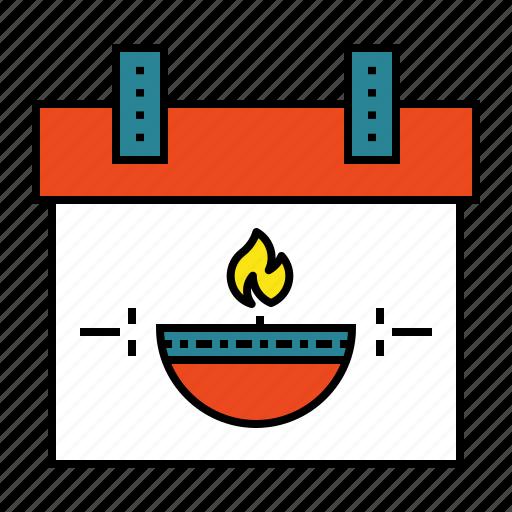 calendar, day, deepavali, diwali, festival, lamp icon