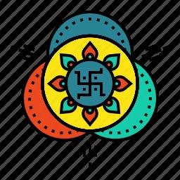 celebration, deepavali, design, diwali, drawing, festival, rangoli icon