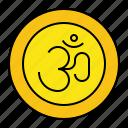 deepavali, diwali, hindu, om, religion icon