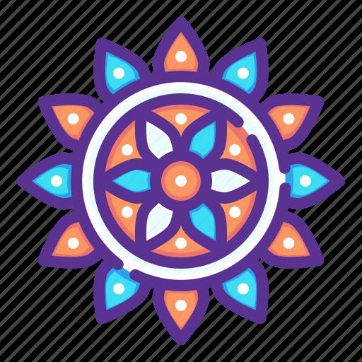 celebrate, decorate, decoration, diwali, hindu, holi, rangoli icon
