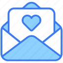 love letter, heart, letter, love-message, message, envelope, mail