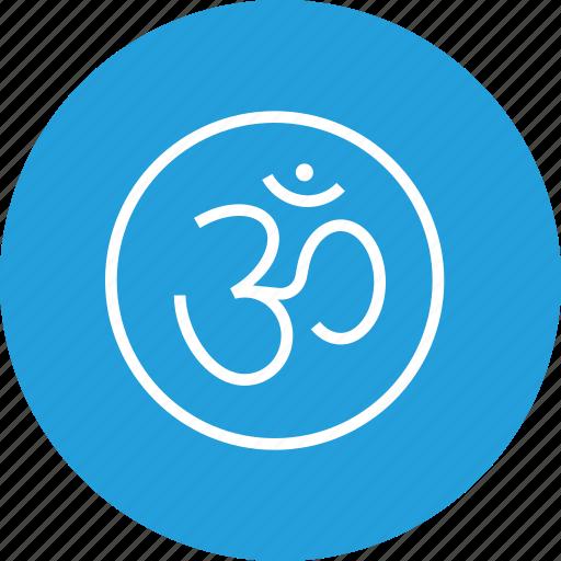 celebration, diwali, festival, om, rangoli, sticker icon