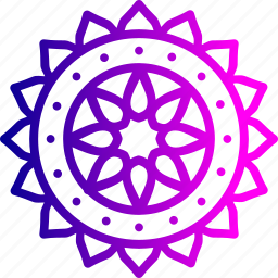 celebration, decoration, diwali, festival, indian, rangoli, sticker icon
