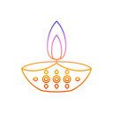 decorations, diwali, diya, festival, lights icon