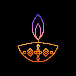 decorations, diwali, diya, festival, lights icon