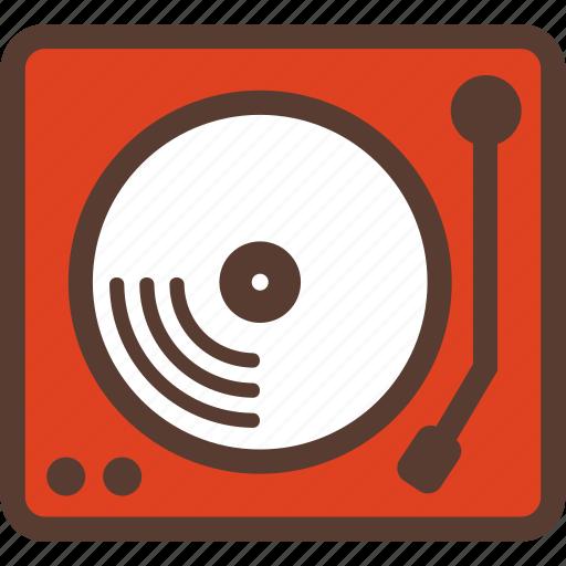 birthday, event, media, music, record, studio, turntable icon
