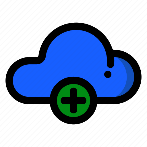 add, cloud, document, file, new, plus icon