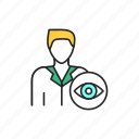 ophthalmologist, doctor icon