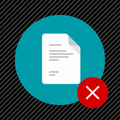 close, cross, delete, docs, document, remove, uncheck icon