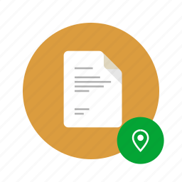 address, docs, document, location, map, place, tag icon