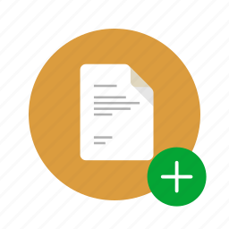 add, docs, document, increase, new, plus, positive icon
