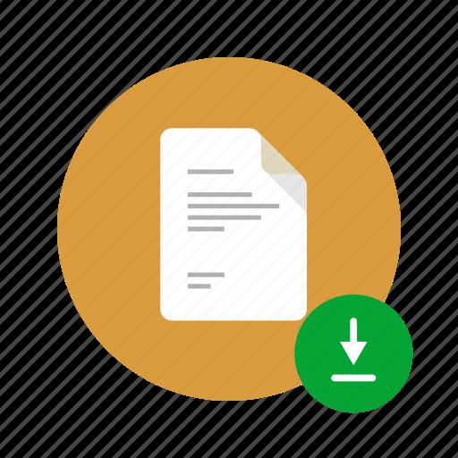 docs, document, downoad, file, hard drive, load, save icon