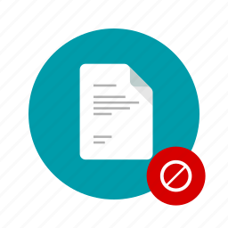 access, block, docs, document, file, forbidden, rules icon