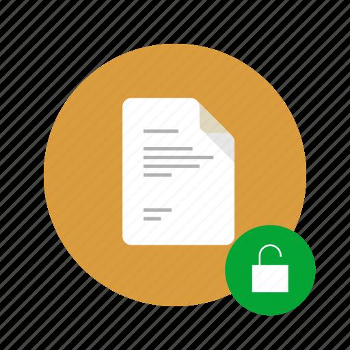 access, docs, document, lock, locked, unlock, unlocked icon