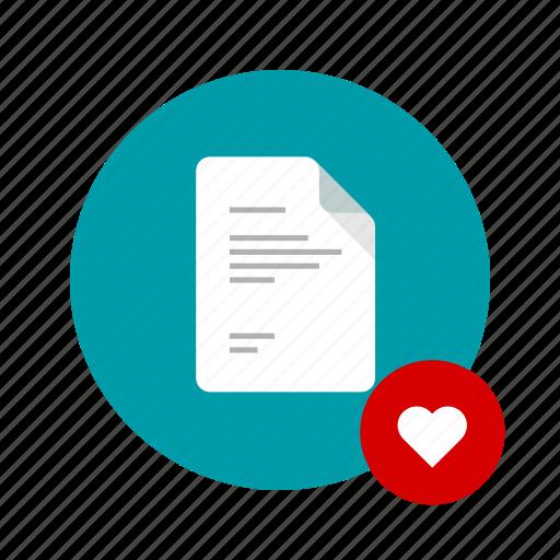 best, docs, document, favorite, heart, love, romance icon