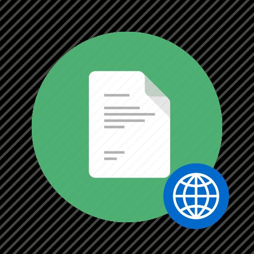 access, docs, document, free, globe, worlwide icon