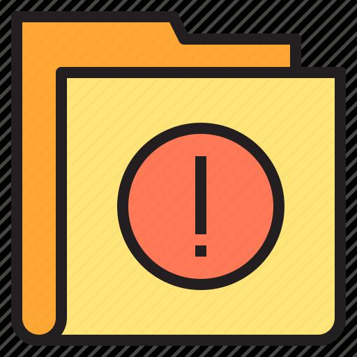 allert, caution, folder, interface icon