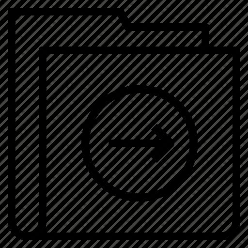 arrow, folder, form, interface, right icon