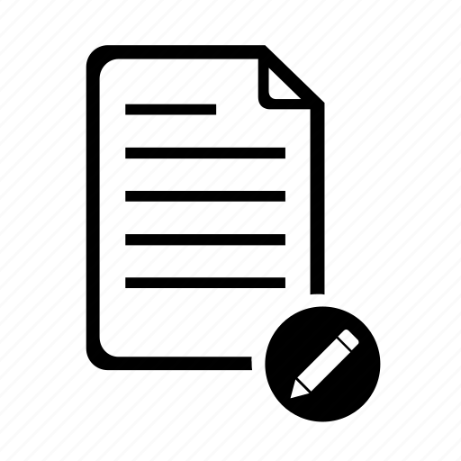 contract, document, edit, file, information, paper, text icon